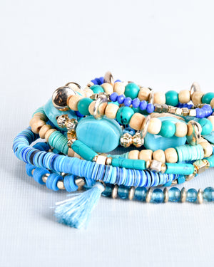 Turquoise Layered Stretch Bracelet Set