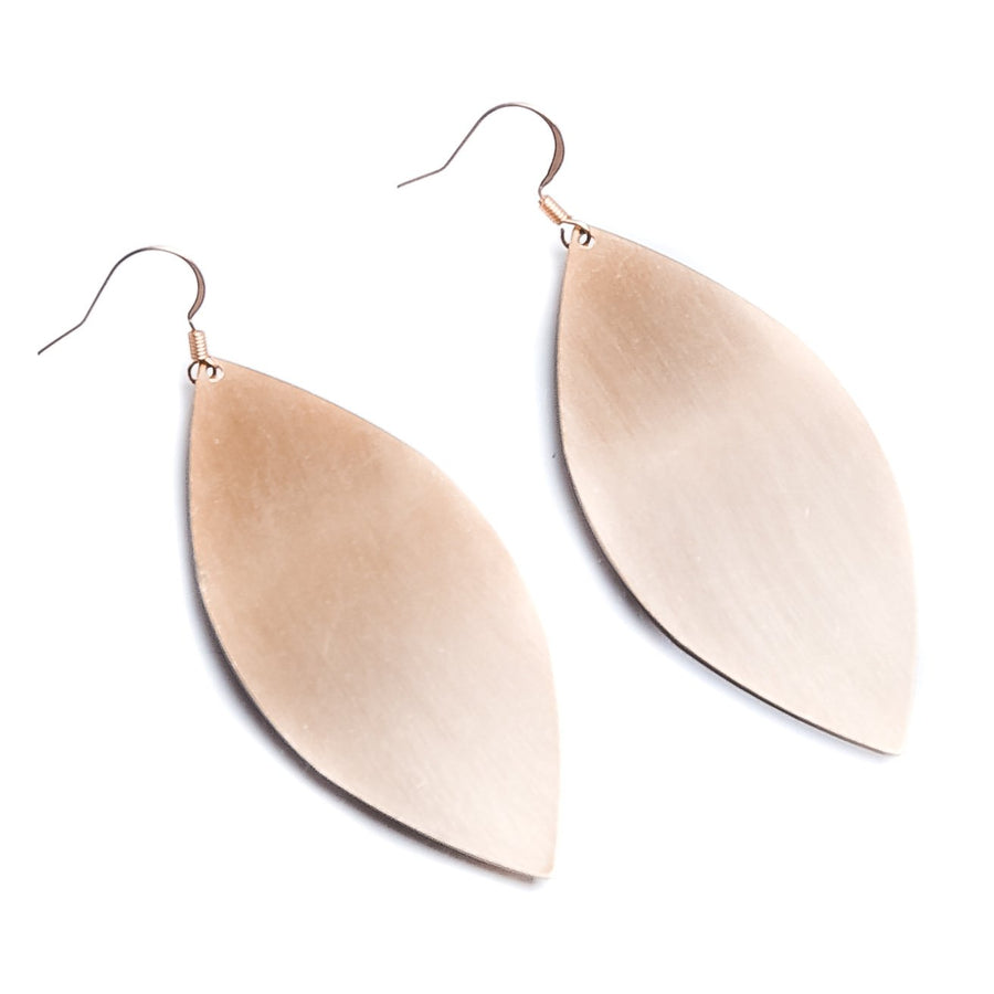 Brushed Marquise Earring - Gold - Warehouse Apparel