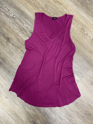 Berry V- Neck Tank