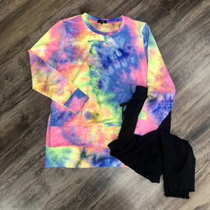 Classic Tie Dye High Low Sweatshirt