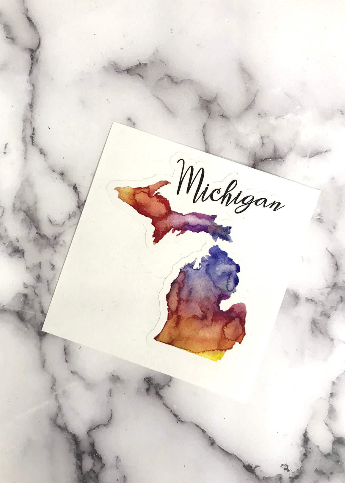 Rainbow Michigan Sticker