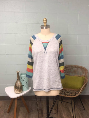 Striped Sleeve Raglan