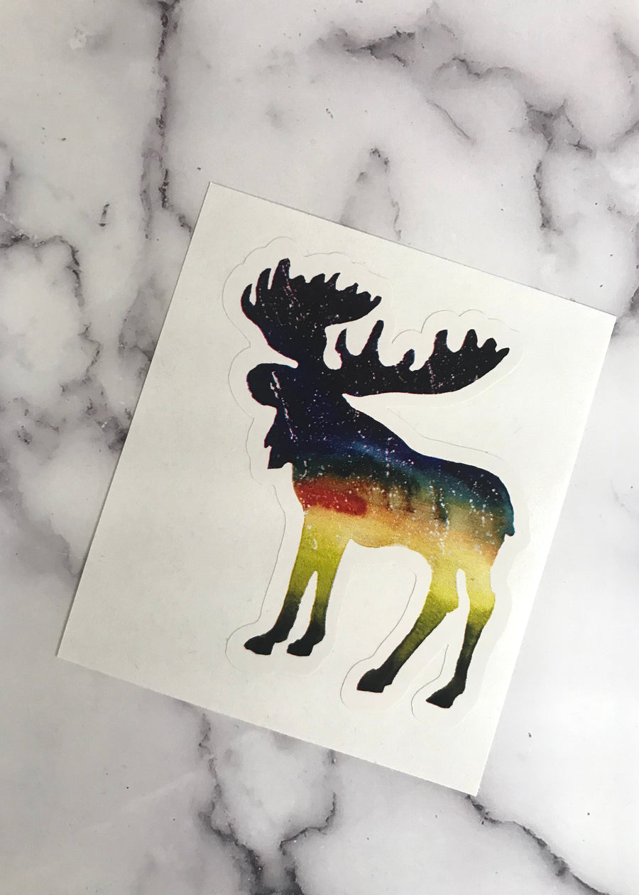 Galaxy Moose Sticker