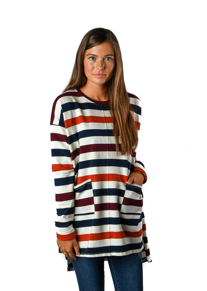 Multi Stripe Token Tunic