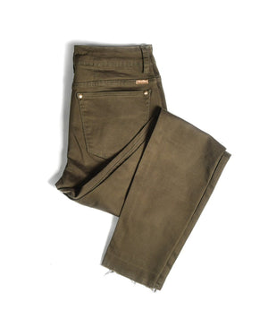 Olive Everyday Denim - Step Hem