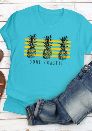 Gone Coastal Pineapple Tee