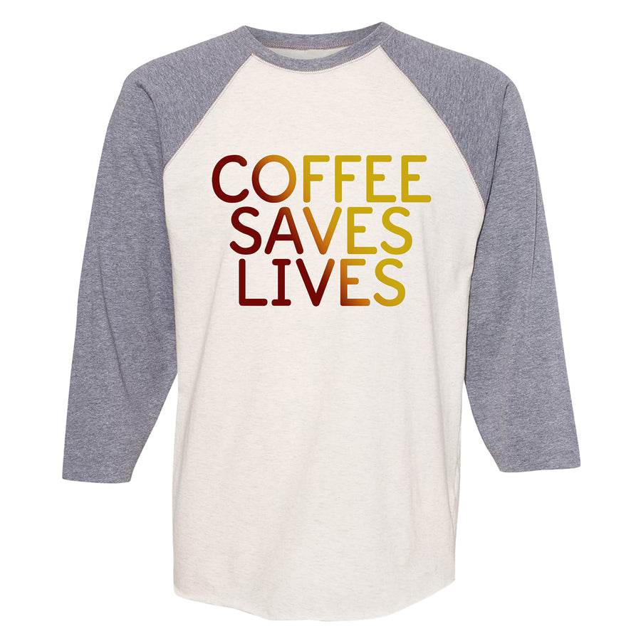 Coffee Saves Lives- Natural Heather/Vintage Heather