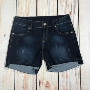 High Low Hem Denim Short