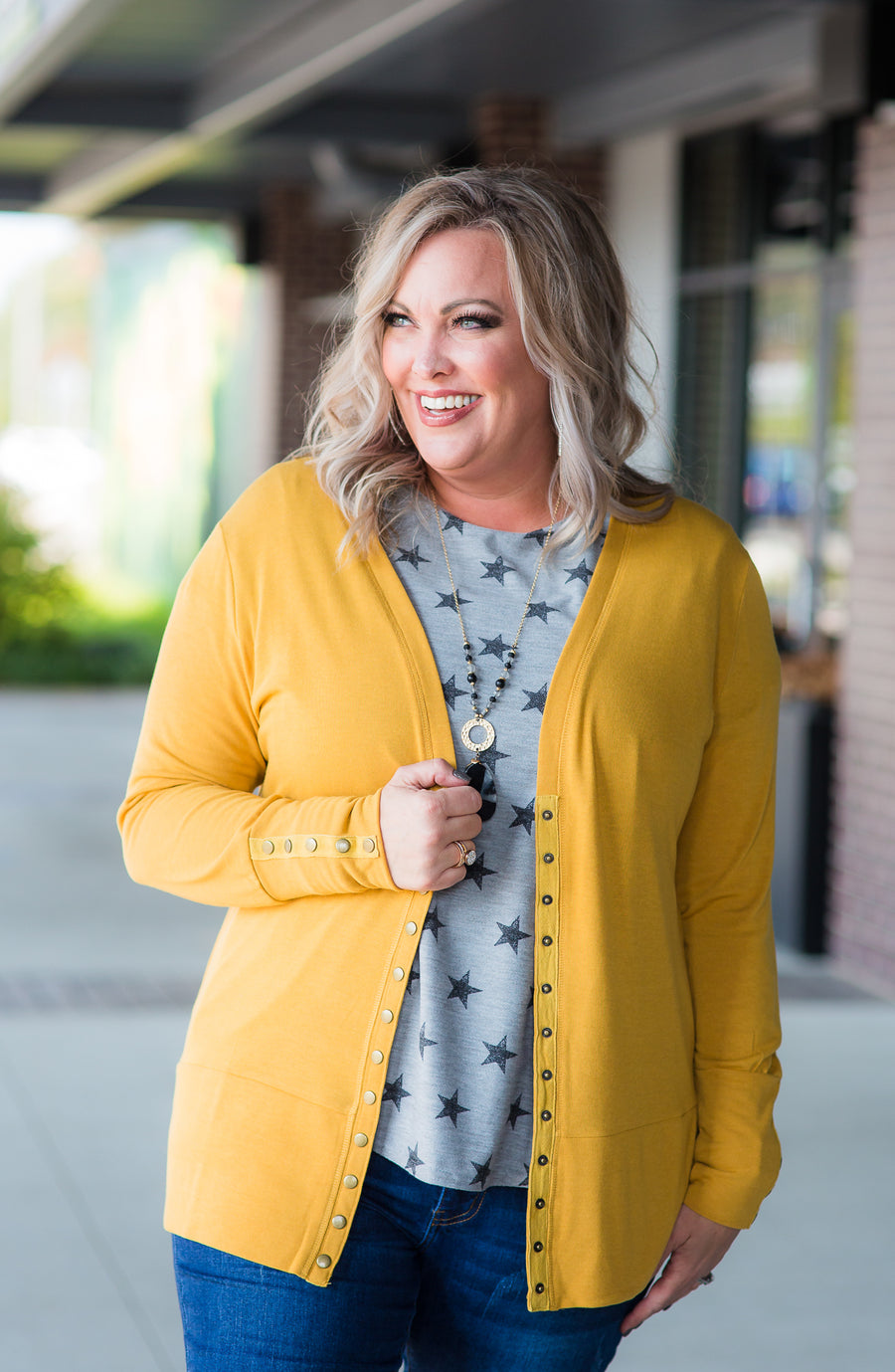 Golden Rod Snap Cardigan