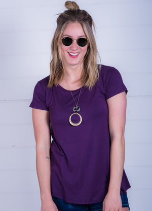 Deep Plum Favorite Tee