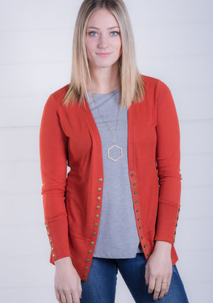 Rust Snap Cardigan