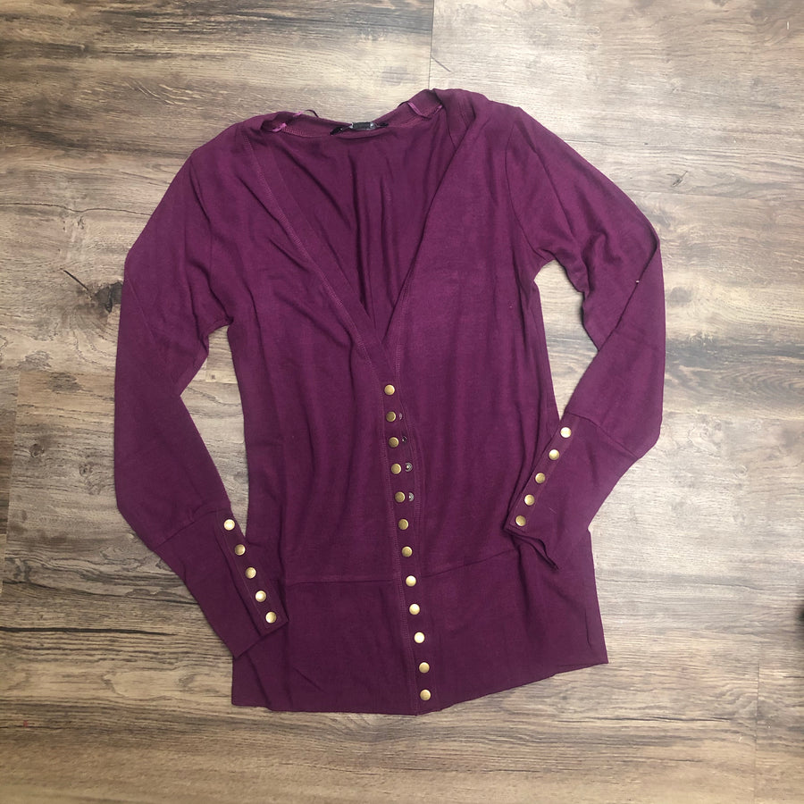 Mulberry Snap Cardigan