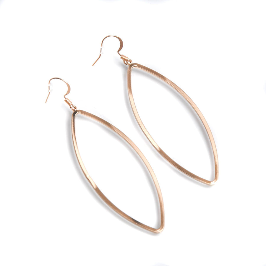 Open Marquise Earring - Gold - Warehouse Apparel