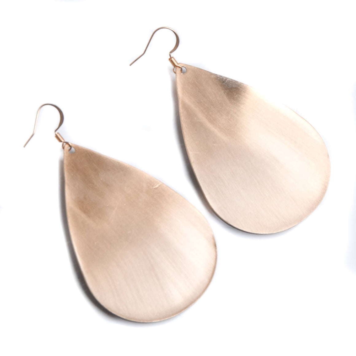 Brushed Teardrop Earring - Gold