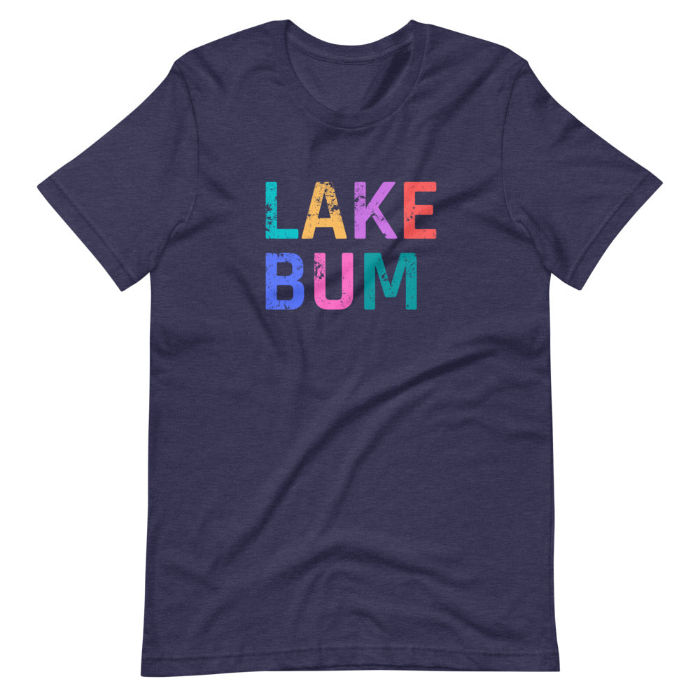 Distressed Lake Bum Short Sleeve Graphic Tee