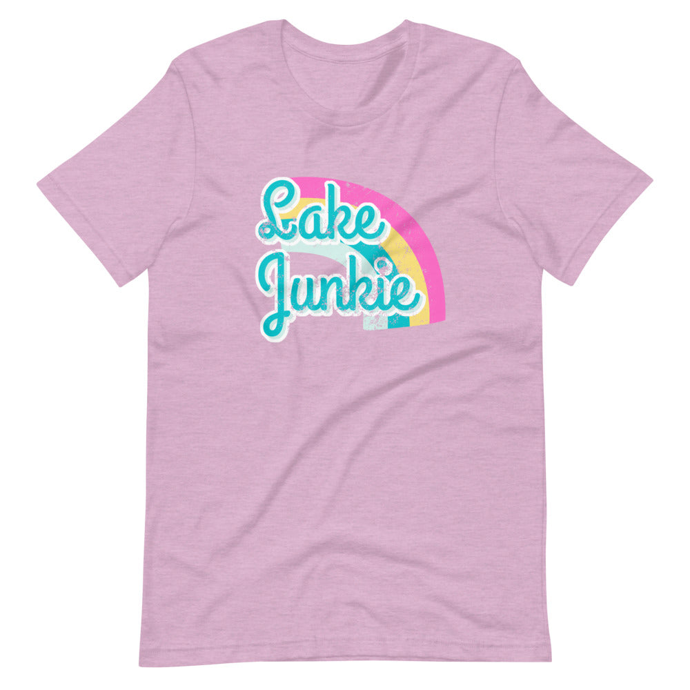Lake Junkie Retro Distressed Short Sleeve Tee