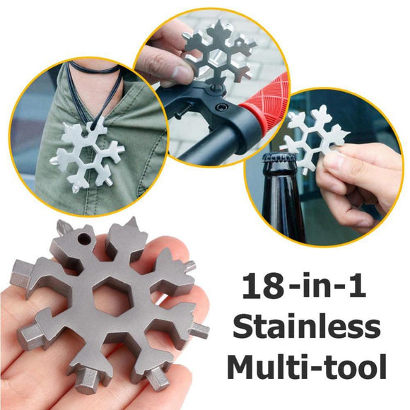 18 in 1 ❄️ Snowflake Multifunctional Tool 【Super Low Price Today💥】