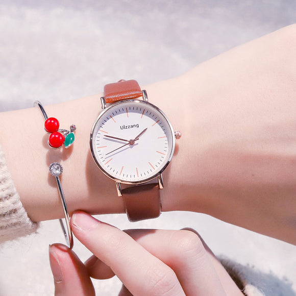 Ulzzang Cherish Women Watch【Free a Cherry Bracelet🍒】