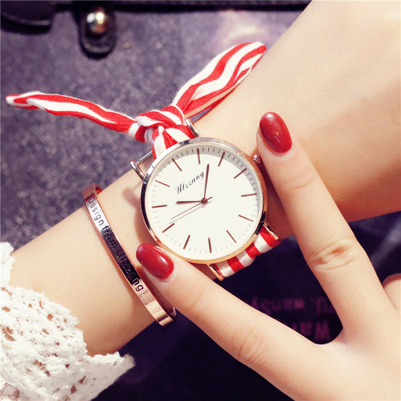 Ulzzang Retro Women Tie Watch with Free Bracelet