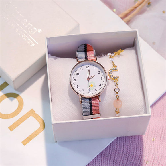 BARSH Women Canvas Watch with Free Bracelet