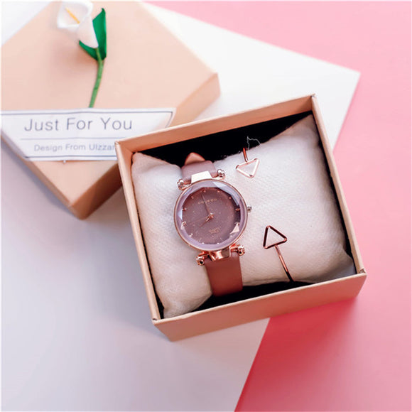 DOUKOU Sen Series Women Watch with Free Bracelet