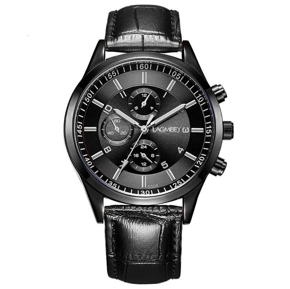 LAGMEEY Leeland Ultra Thin Leather Men Watch
