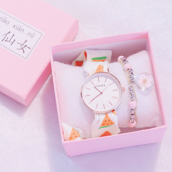 Ulzzang Cutie Women Tie Watch with Free Bracelet