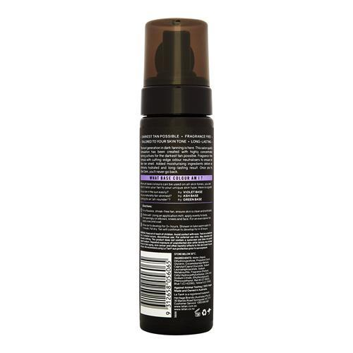 UBER DARK SELF TANNING FOAM VIOLET BASE 200ML