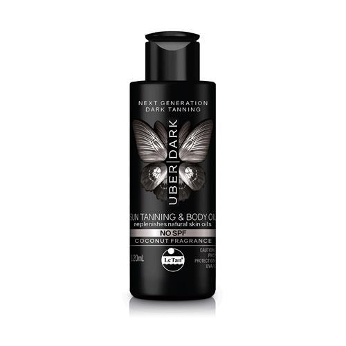 UBER DARK SPF0 SUN TANNING AND BODY OIL 120ML