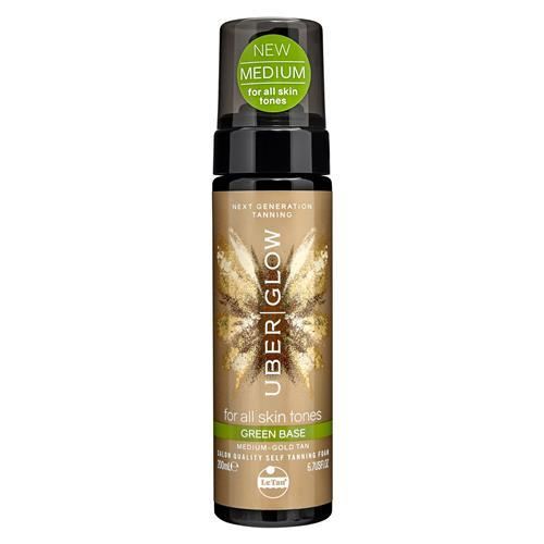 UBER GLOW FOAMED OIL SELF TANNING FOAM GREEN BASE 200ML