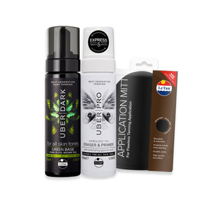 UBER DARK SELF TANNING PACK - GREEN BASE