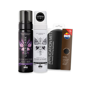 UBER DARK SELF TANNING PACK - VIOLET BASE