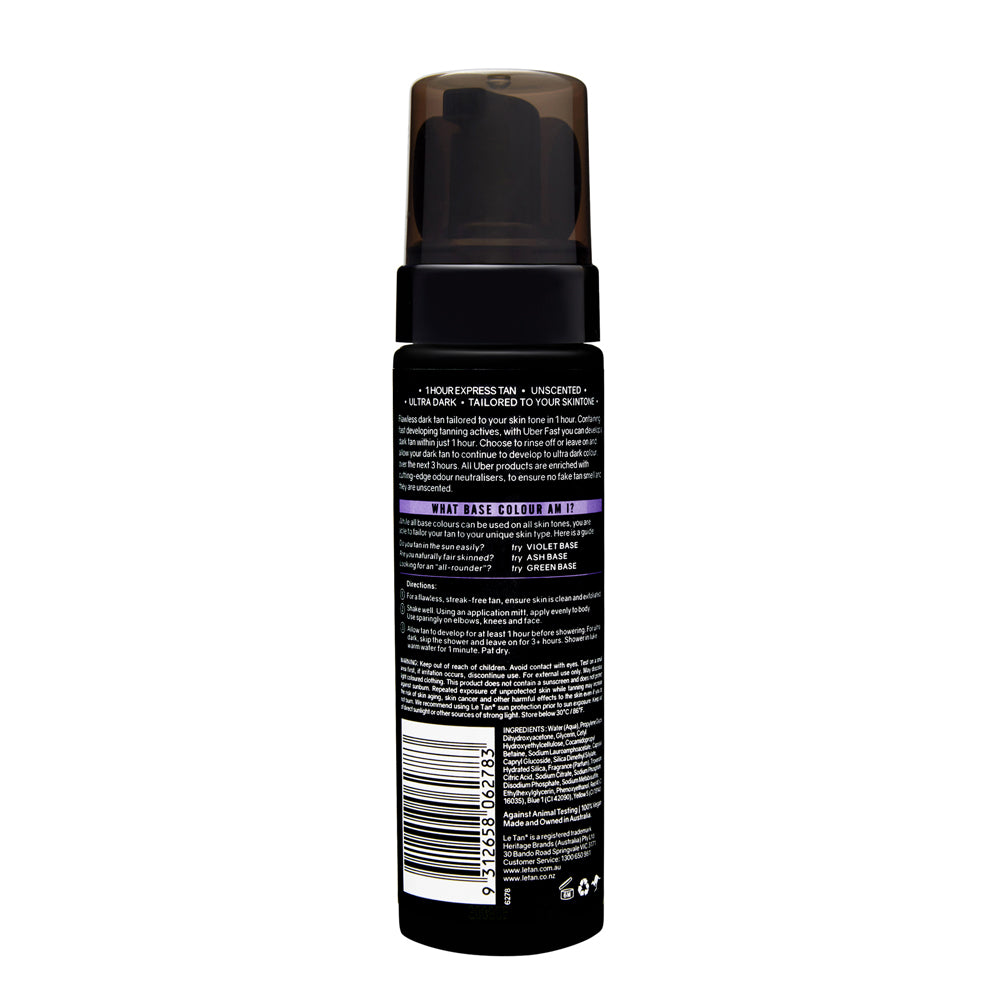 UBER FAST EXPRESS TANNING FOAM VIOLET BASE 200ML