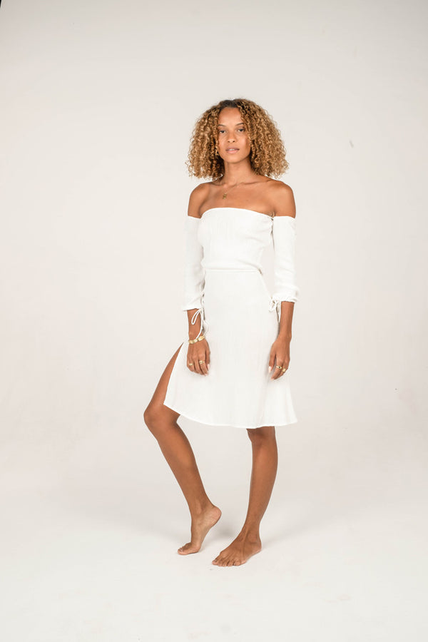 The Santorini Dress - Purity Collection