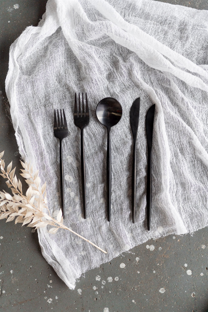 Shanghai Cutlery Black Styling Set
