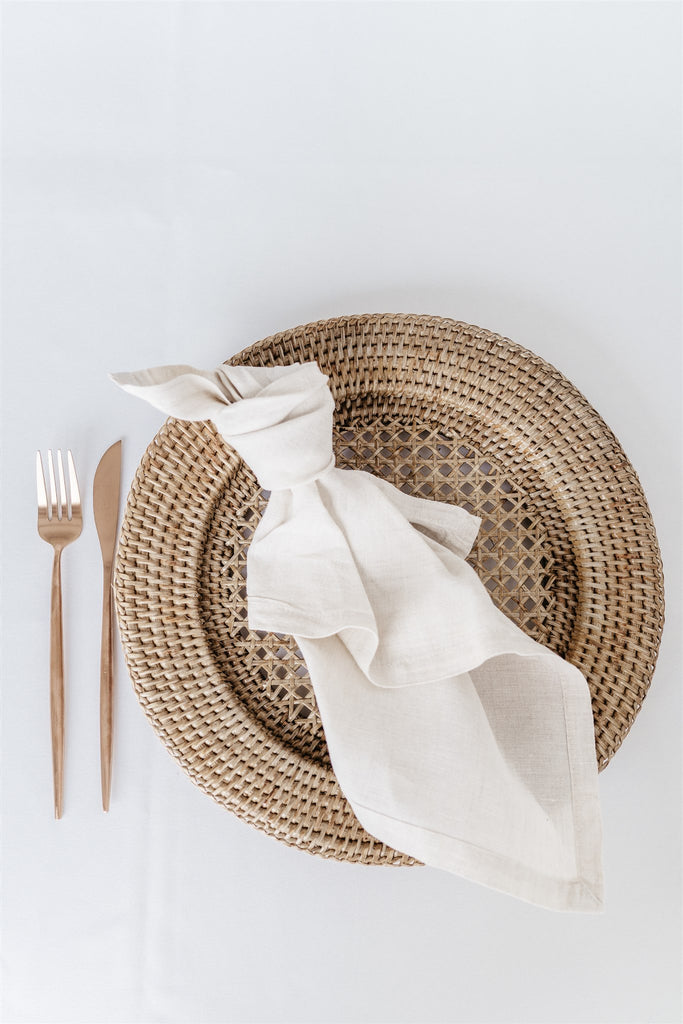 Charger Plate Rattan Chocolate