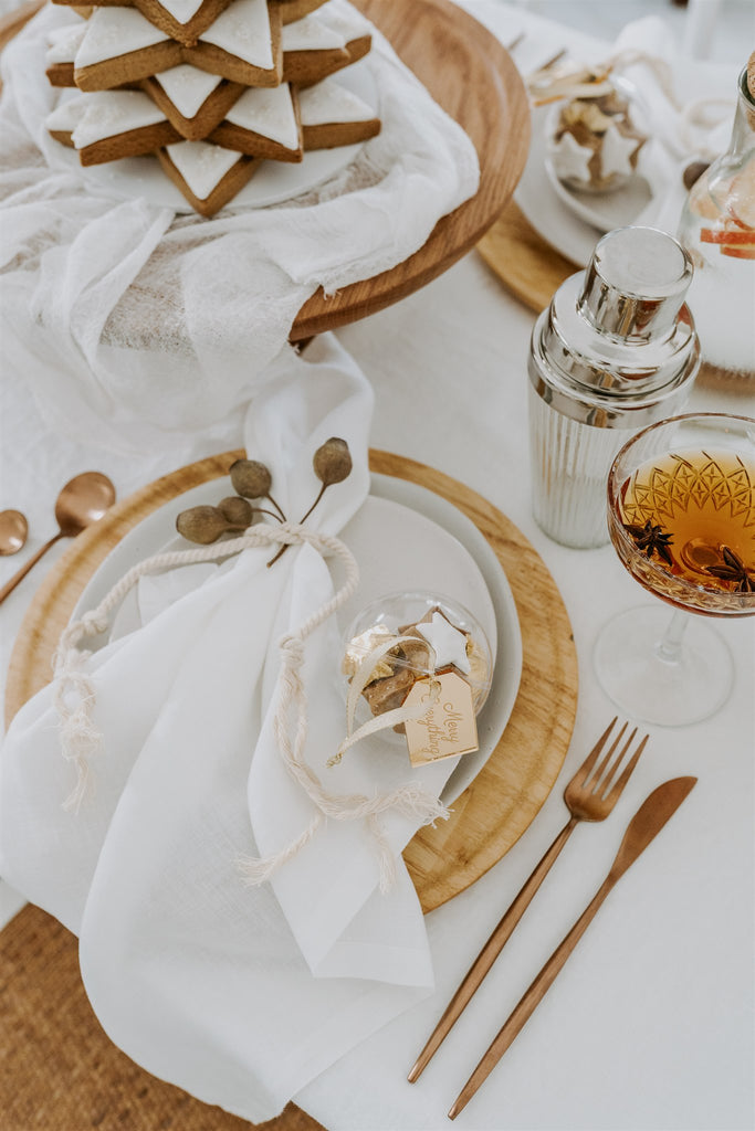 White French Linen Table Cloth