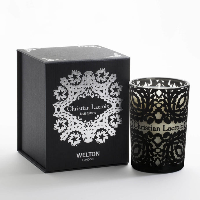 luxury scented candle nuit gitane christian lacroix welton london floral scent high quality home fragrance to match your interior limited edition capsule collection