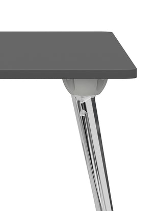 Close up of the polished aluminium legs on an AbakEnvironments desk