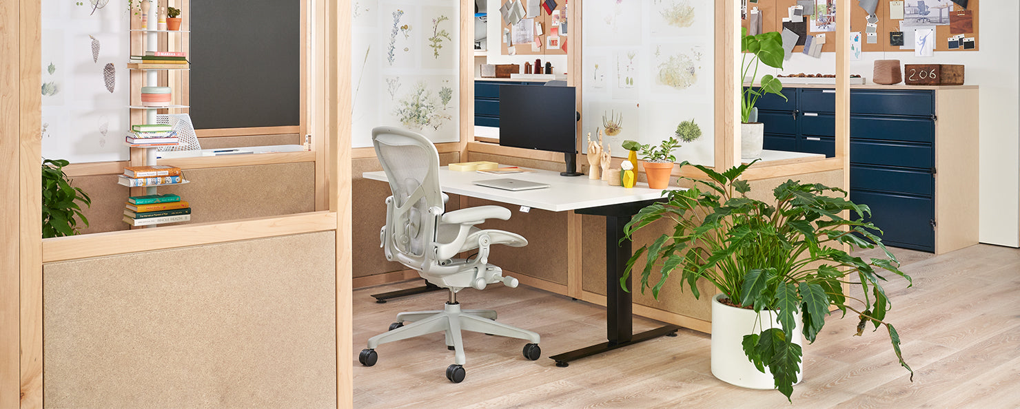 Home office setting in Herman Miller retail space