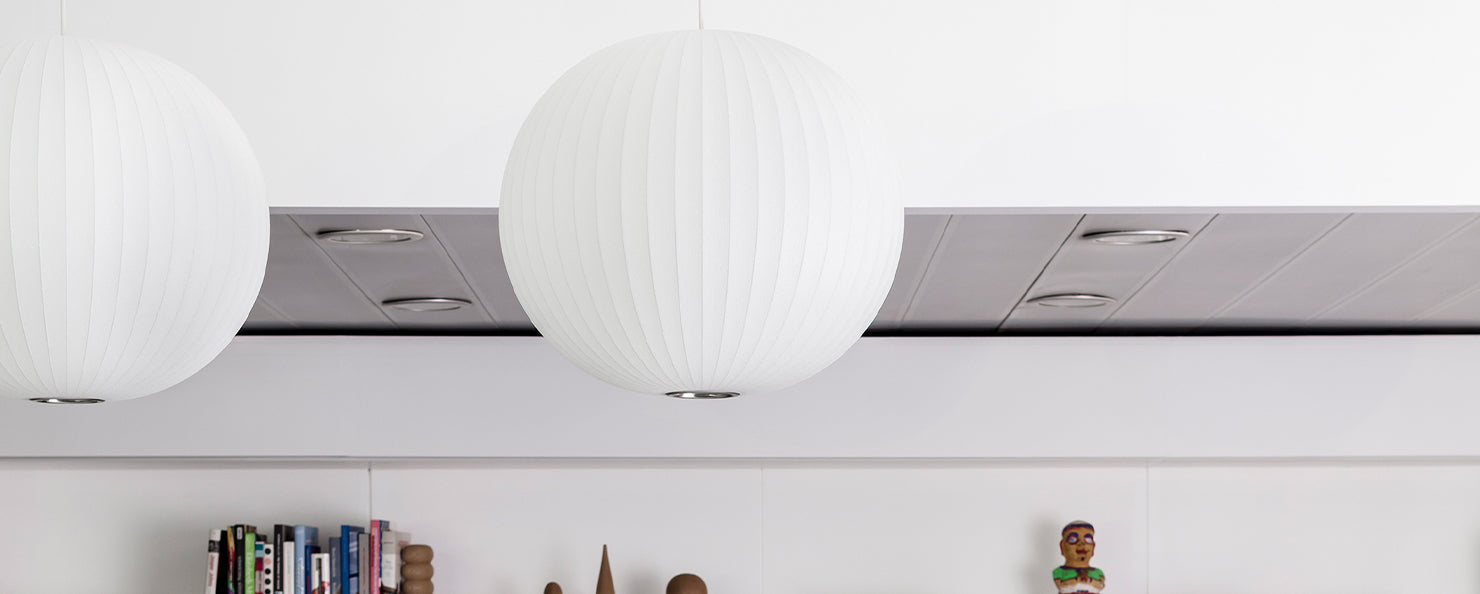 Ball Bubble lamp in an office environment