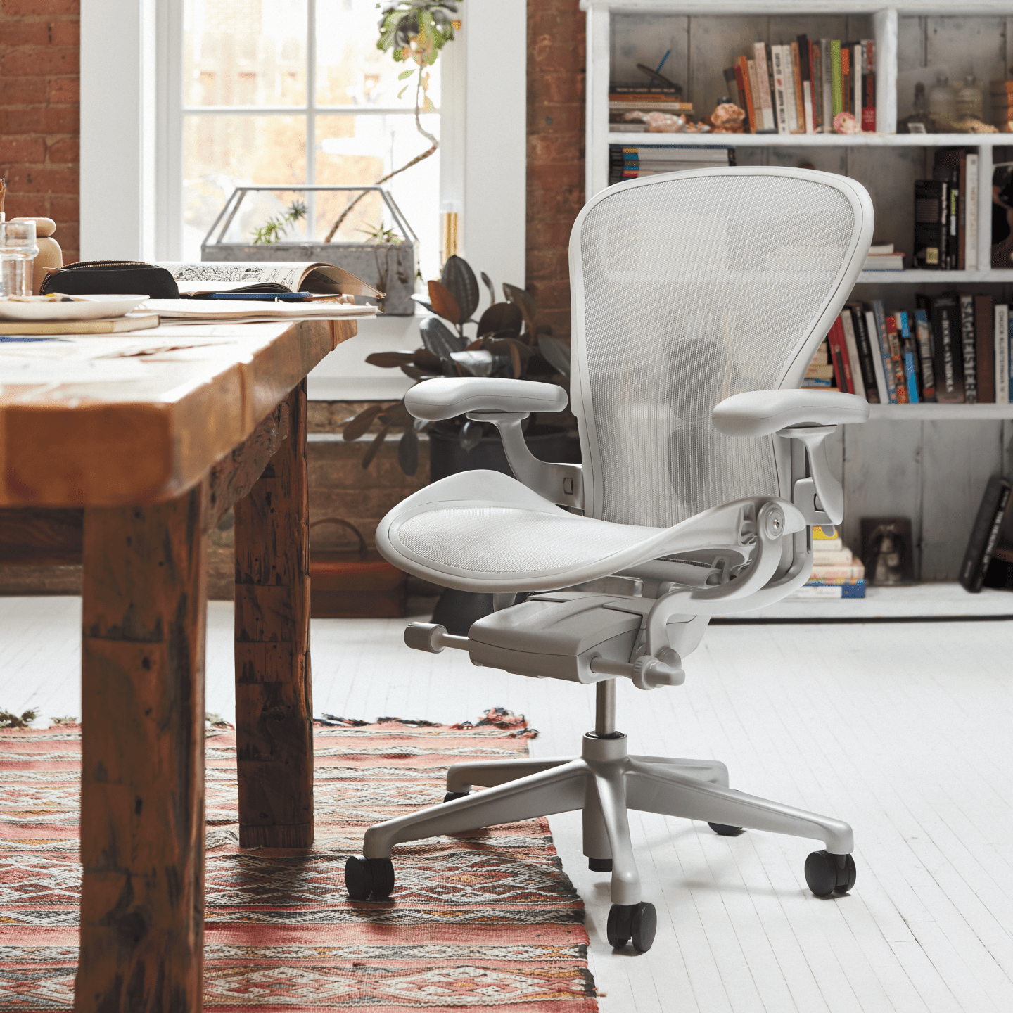 A Mineral Aeron Office Chair in a home office environment