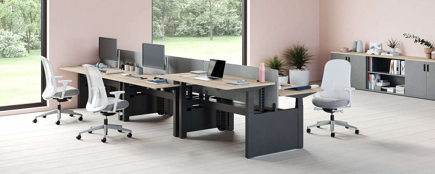 Grey Lino chairs in an open office