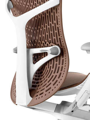 Detailed view of lumbar support on Mirra 2 chair