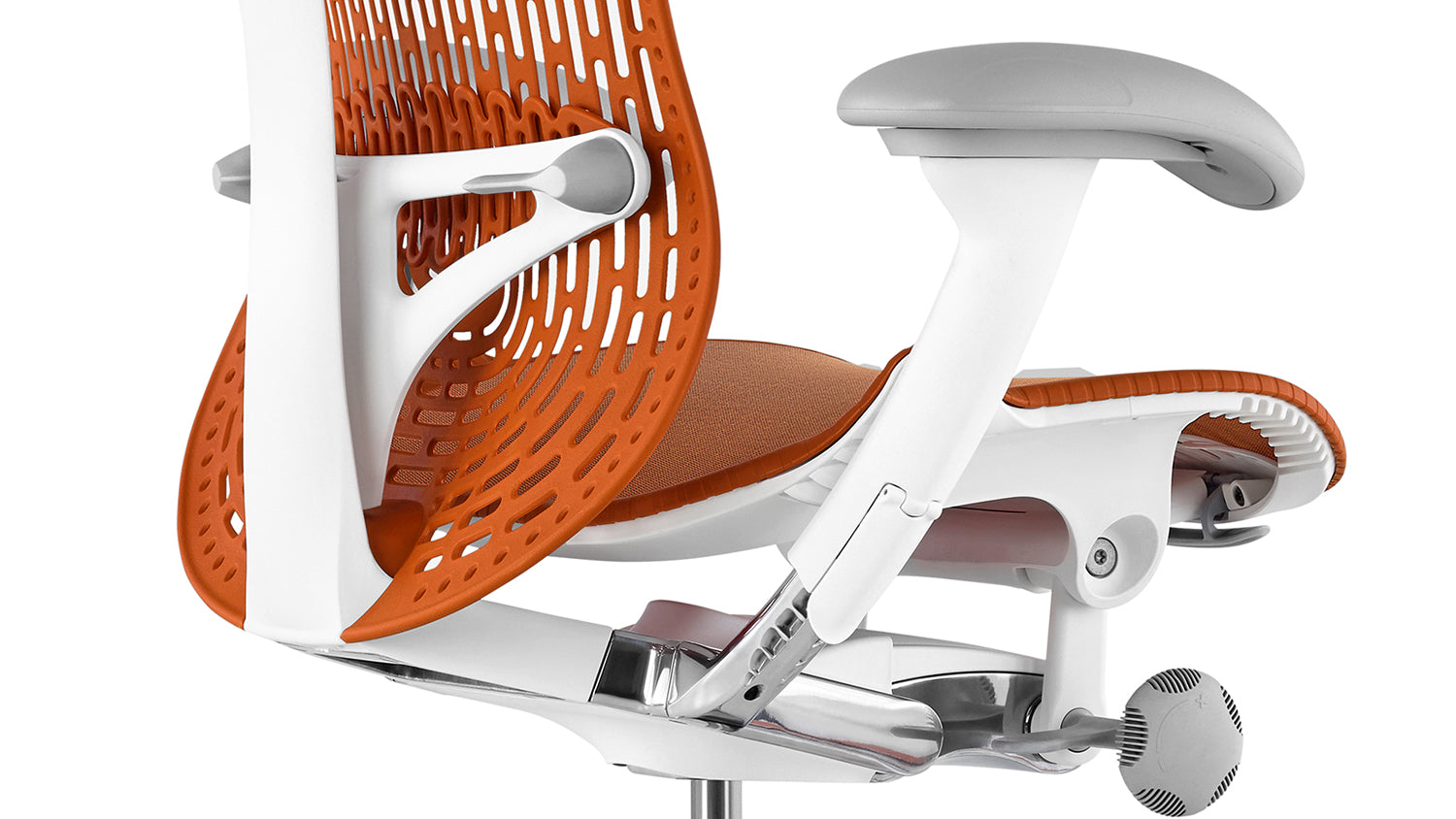 Rear view of an orange Mirra 2 chair