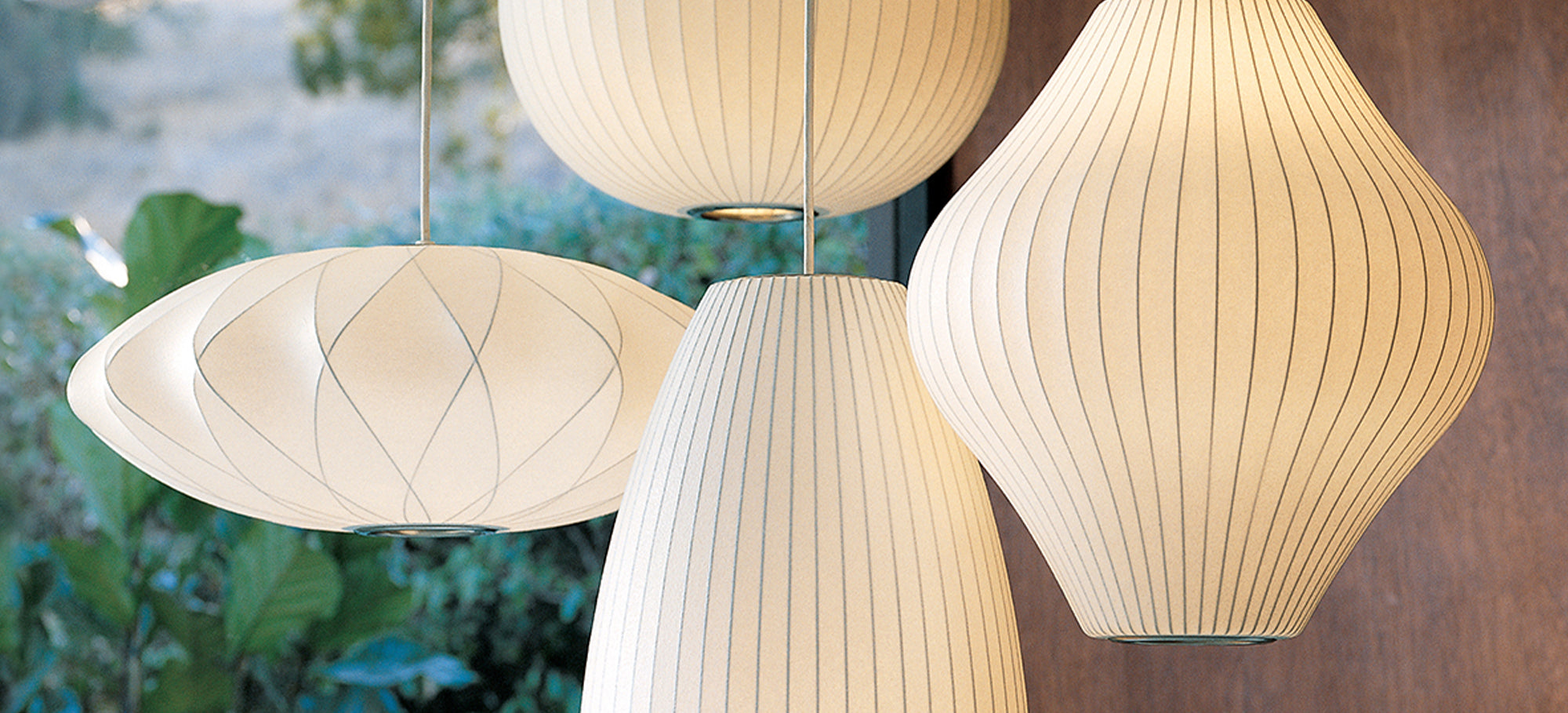 A collection of Nelson Bubble Lamps