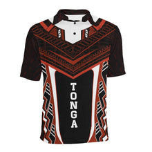 Load image into Gallery viewer, Tonga New Polynesian Style Polo - Red Color - Front
