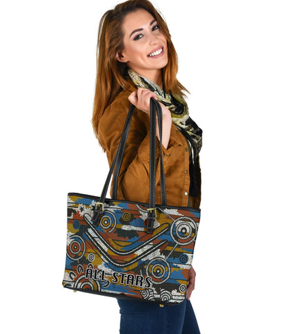 Indigenous All Stars Small Leather Tote