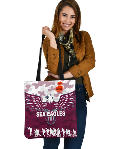 Manly Warringah Tote Bag Sea Eagles Anzac Day Camouflage Vibes