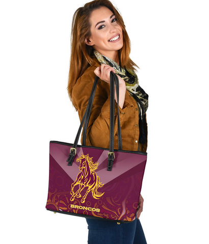 Brisbane Broncos Indigenous Small Leather Tote